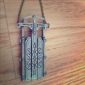 Jewelry - jonette jewelry pewter sleigh pin signed jj